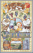Wine and Cheese - Cross Stitch Pattern