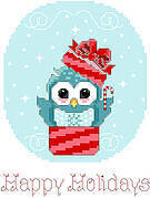 Happy Holidays - Christmas Cross Stitch Pattern