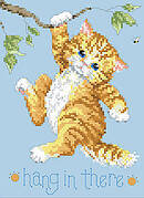 Hang in There - Cross Stitch Pattern