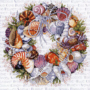 Seashell Wreath - Cross Stitch Pattern