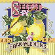 Fancy Lemons - Cross Stitch Pattern