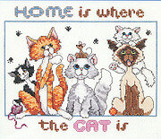 Home Is Where The Cat Is - Cross Stitch Pattern