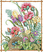Grandma's Flowers - Cross Stitch Pattern