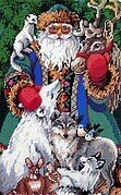 North Pole Santa - Christmas Cross Stitch Pattern