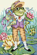 Mr. Frog Goes A Courting - Cross Stitch Pattern