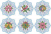 Snowflake Elegance Christmas Ornaments -Cross Stitch Pattern