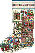 Toys and Games Christmas Stocking - Cross Stitch Pattern