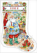Welcome to My Garden Xmas Stocking - Cross Stitch Pattern