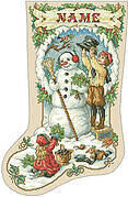 Nostalgic Christmas Stocking - Cross Stitch Pattern