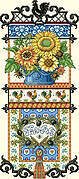 Provence Sunflower Sampler - Cross Stitch Pattern