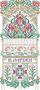 Le Jardin Sampler - Cross Stitch Pattern