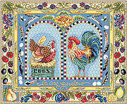 Gallic Rooster - Cross Stitch Pattern