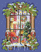 Christmas Window - Cross Stitch Pattern