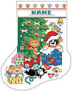 Pets Christmas Stocking - Cross Stitch Pattern