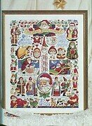 Santa Christmas Sampler - Cross Stitch Pattern