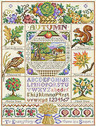 Autumn Harvest Sampler - Cross Stitch Pattern
