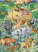 Gathering At The Ark - Cross Stitch Pattern