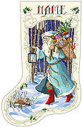 Old Father Winter Christmas Stocking - Cross Stitch Pattern