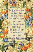 Bless Thee and Keep Thee - Christian Cross Stitch Pattern
