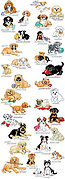 Encyclopedia of Puppies - Cross Stitch Pattern