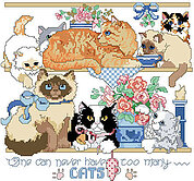 One Can Never Have Too Many Cats - Cross Stitch Pattern