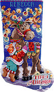 Merry Chrismoose Christmas Stocking - Cross Stitch Pattern