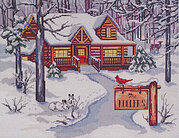 Cabin in the Woods - Cross Stitch Pattern