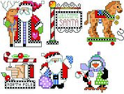 Checkered Christmas Ornament Set 2 - Cross Stitch Pattern