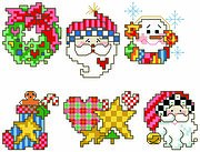 Holiday Fun Christmas Ornaments - Cross Stitch Pattern