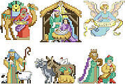 Nativity Ornaments - Christmas Cross Stitch Pattern