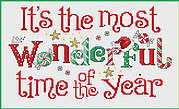 Most Wonderful Time, The - Cross Stitch Pattern