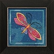 Dragonfly Capri - Laurel Burch - Cross Stitch Kit