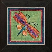 Dragonfly Lime - Laurel Burch - Cross Stitch Kit