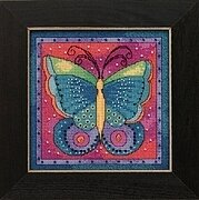 Butterfly Fuschia - Laurel Burch - Cross Stitch Kit