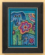 Petunia & Rose (Linen) - Cross Stitch Kit