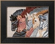 Moroccan Mares (Linen) - Cross Stitch Kit