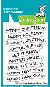 Winter Wavy Sayings - Christmas Clear Stamp