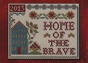Home Of The Brave - Cross Stitch Pattern