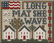 Long May She Wave - Cross Stitch Pattern (with threads)