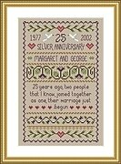 Silver Wedding - Cross Stitch Pattern