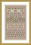 Ruby Wedding - Cross Stitch Pattern
