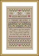Golden Wedding - Cross Stitch Pattern