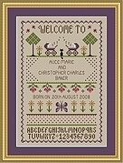 Twins Sampler - Cross Stitch Pattern
