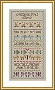 Baby Boy - Birth Sampler - Cross Stitch Pattern