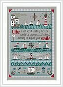 Adjust Your Sails - Cross Stitch Pattern