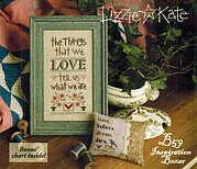 The Things That We Love - Inspirational Cross Stitch Kit