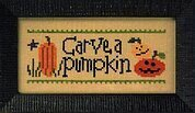 Halloween Rules Carve a Pumpkin/Stay Up Late - Cross Stitch