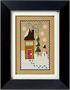 6 Fat Men Series - Snow House - Cross Stitch Pattern