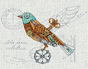 Clockwork Bird - Cross Stitch Kit