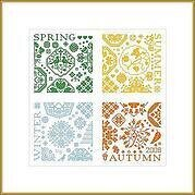 Sampler 4 Seasons - Cross Stitch Pattern